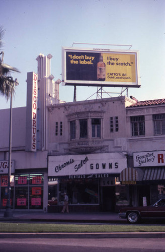 Businesses on Wilshire Boulevard