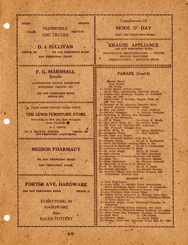 Official program for the Seventh Annual San Fernando Valley Mission Fiesta and Pageant, 1937