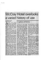 McCray Hotel overlooks a varied history of use