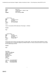 [Email from Tom Keevil to Norman Jack regarding Tlais seizure Malta]
