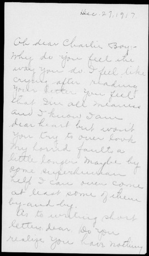 Letters from Gretchen Swope to Charles Byron Swope