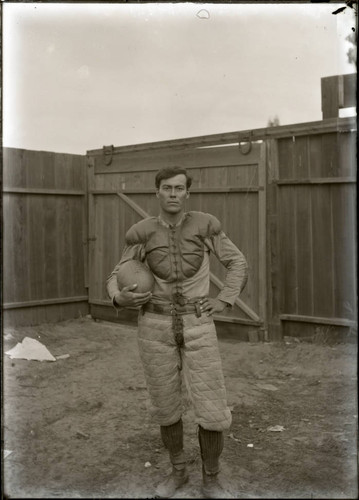 Football player, Sherman Institute