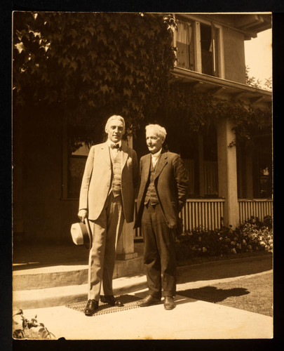 Luther Burbank and Mr. Cox