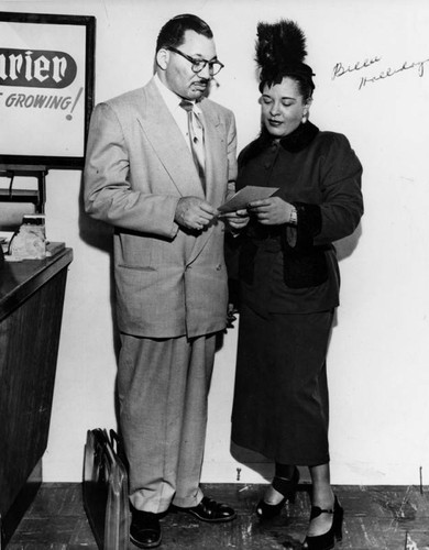 Walter Gordon, Jr. with Billie Holiday