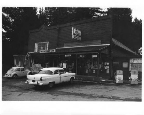 Freestone general store in Freestone on Bohemian Highway, circa 1970s