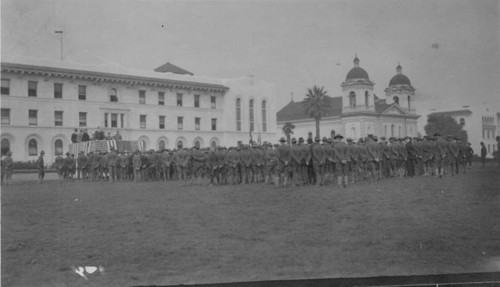 1918 SC Cadets in front of Mission