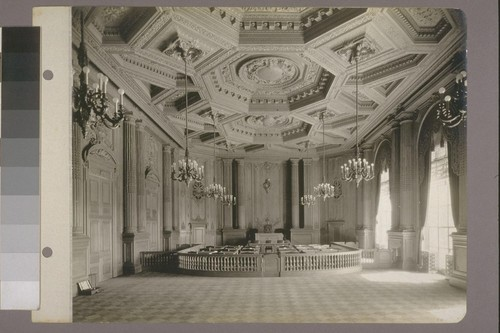 [Interior, Board of Supervisors' chambers.]