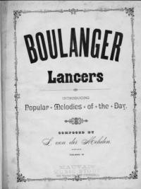 Boulanger lancers : introducing popular melodies of the day / composed by L. von der Mehden