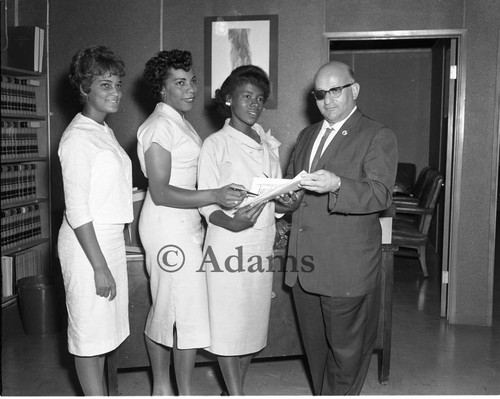 Attorney and women, Los Angeles, 1962