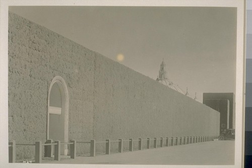H24. [Hedge, South Garden; dome of Festival Hall in background.]