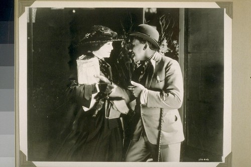 """McTeague had a vague idea that Marcus Shouler was stuck on his cousin Trina""... Page 11. 179-402. [Zasu Pitts and Jean Hersholt.]"