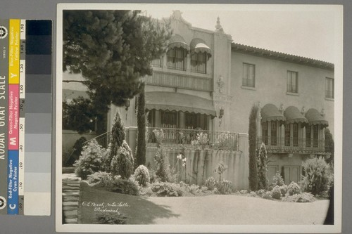 C.L. Best [residence]. 30 La Salle, Piedmont. [Facade, with iron ornamentation.]