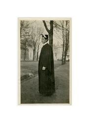 Henry Isidore Dockweiler in cap and gown, circa 1910s