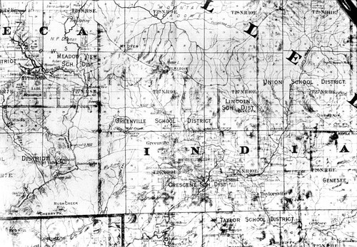 Official map of Plumas County--1892 (From thesis by Kurtz--A History of Indian Valley)