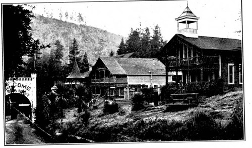 Scene of the town of Camp Meeker California near the Russian River