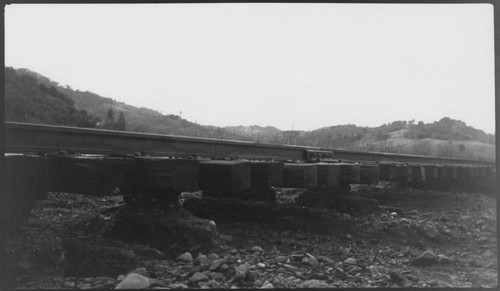 Flood damage to the North West Pacific tracks between Healdsburg and Hopland