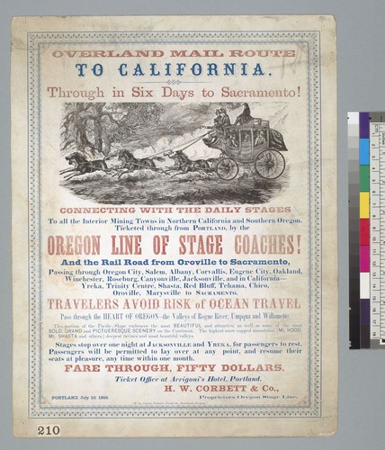 [Overland Mail Route to California]
