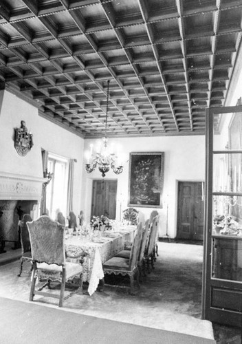 Harold Lloyd home, interior