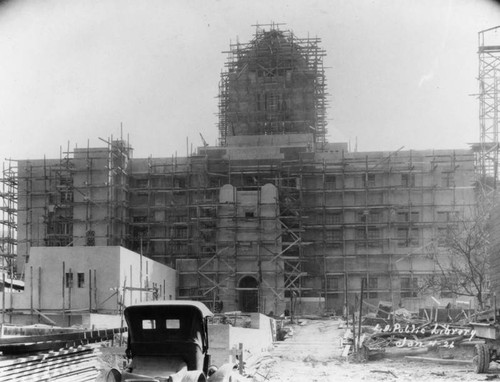LAPL Central Library construction, view 73