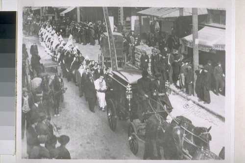 [Chinese funeral procession. Photograph by L.J. Stellman.]
