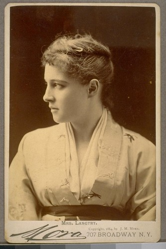 "The ""Jersey Lily"" [Lillie Langtry]"