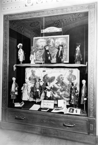 Antique puppets, Los Angeles Public Library