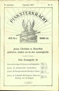 Pentecostal power : monthly for the glorifying of Jesus, vol. 03 (1927), no. 08