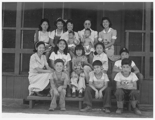 Evacuee orphans from an institution in San Francisco who are now established for the duration in the Children's Village at
