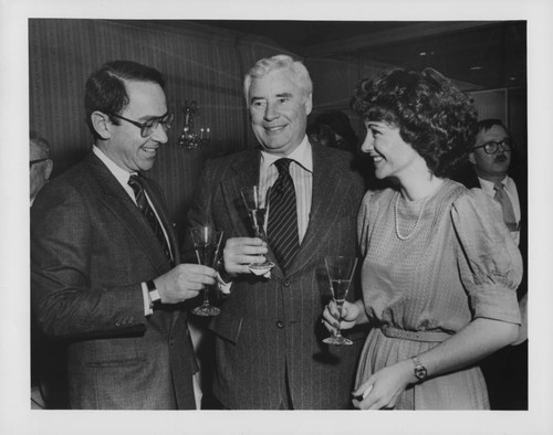 Stan Bromley, Rodney D. Strong, and Alis Demers at Four Seasons Clift Hotel, San Francisco, California, 1981