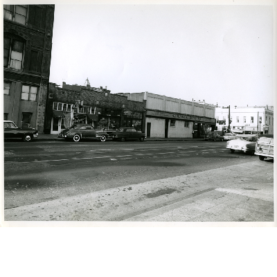 South side of 8th Street between Franklin Street and Broadway, 1955
