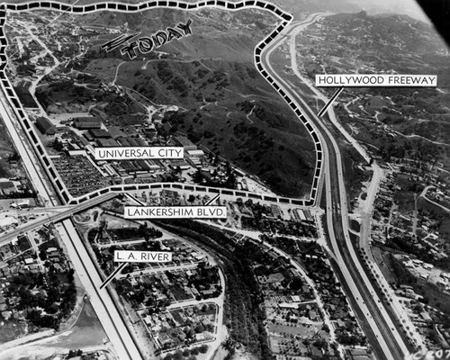 Universal City in 1956, aerial view