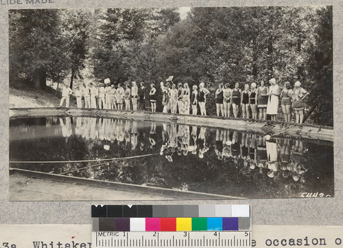 Whitaker's Forest pool on the occasion of the water carnival during Home Dept. Week. W. Metcalf - July 1931