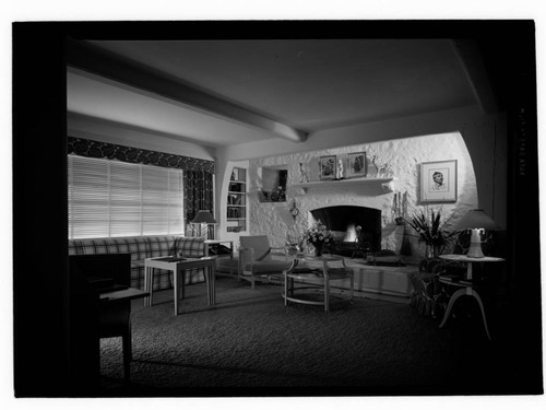 "Model house [""A Twentieth Century New England Farm House""]. Living room"