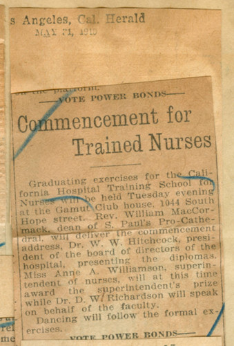Commencement for trained nurses
