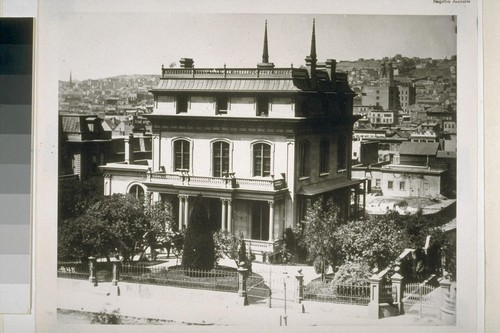 Homes on Rincon Hill [then called Nob Hill]. Ca. 1870