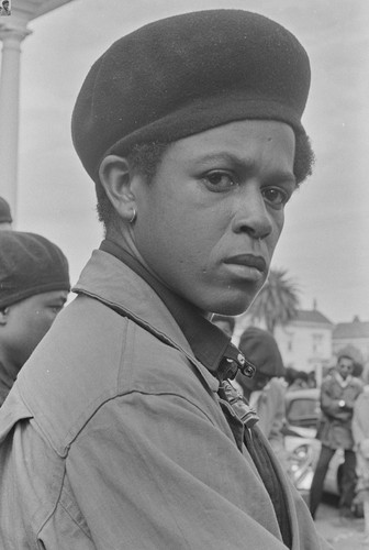 Black Panther guard, Free Huey Rally, Bobby Hutton Memorial Park, Oakland, CA, #54 from A Photographic Essay on The Black Panthers