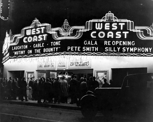 Fox West Coast Theater on Main St. in the early 1930's