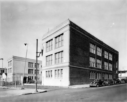 [Exterior of Redding School]