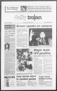 Daily Trojan, Vol. 116, No. 48, November 08, 1991