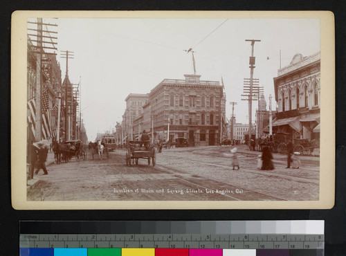 Junction of Main and Spring Streets, Los Angeles, Cal