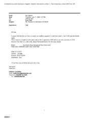 [Email from Nadine, Kerr to Jefferys Jane regarding the Request for Information]