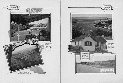 Hollywood Country Club and Foothills subdivisions brochure, circa 1924