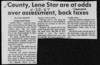 County, Lone Star are at odds over assessment, back taxes