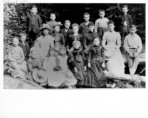 Students at Meeker School, Occidental, California, ca. 1887 or 1888