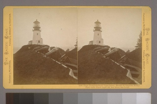 Cape Disappointment Light-house, (Mouth of Columbia River,) First Order Fixed Light, 232 feet above Sea Level