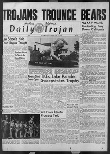 Daily Trojan, Vol. 44, No. 31, October 27, 1952