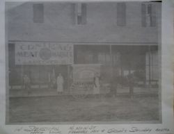 Central Meat Market on North Main Street in Sebastopol, about 1880s