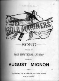 Twenty bold mariners : song / words by Rose Hawthorne Lathrop ; music by August Mignon