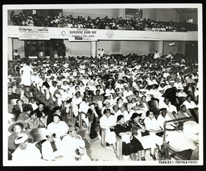 Filled hall, COGIC convocation, Memphis, 1957?