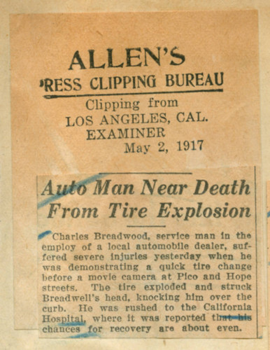 calisphere auto man near death from tire explosion